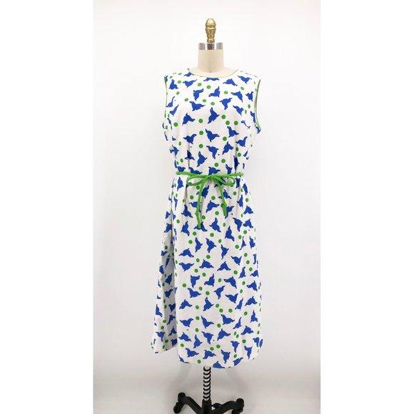 Vintage Dresses & Skirts - Vintage Vested Gentress Dress Seal Novelty Print